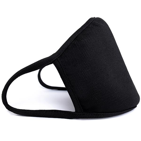 czarna maska materiałowa