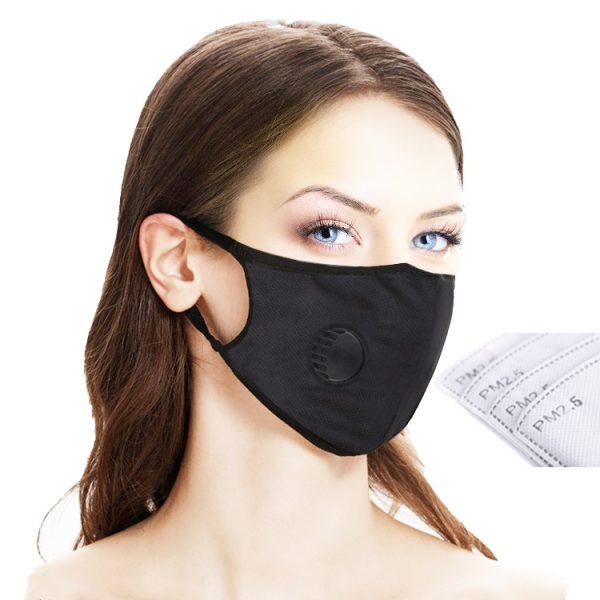 Maska antysmogowa z filtrami hepa