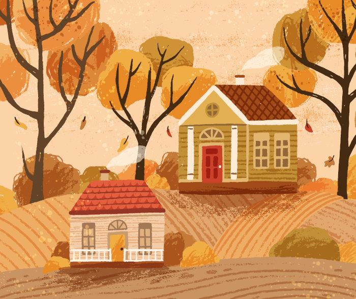 jesienny domek