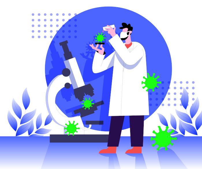 doktor testuje wirusa